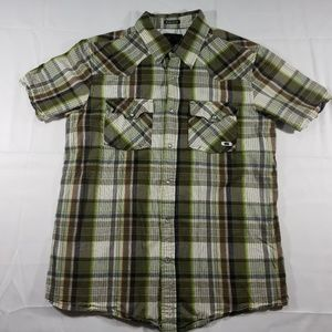 Oakley plaid Mens Size Medium cowboy style shirt